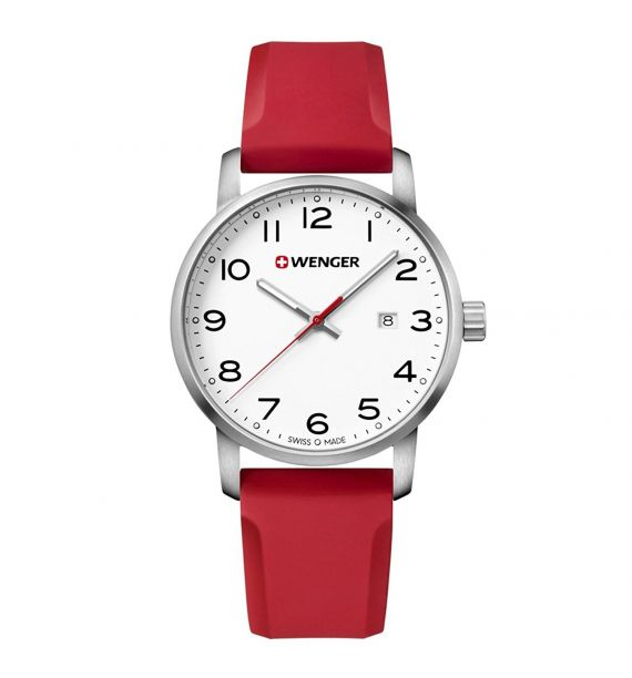 Avenue 42mm white/red 01.1641.105
