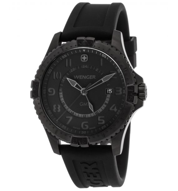 Squadron gmt gent 43mm pvd blk 77074