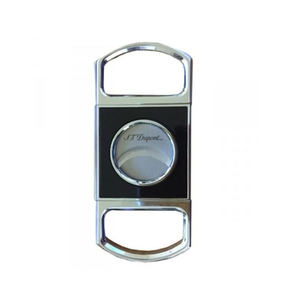 DUPONT CIGAR CUTTER BLACK/CHROME TRAD 003411