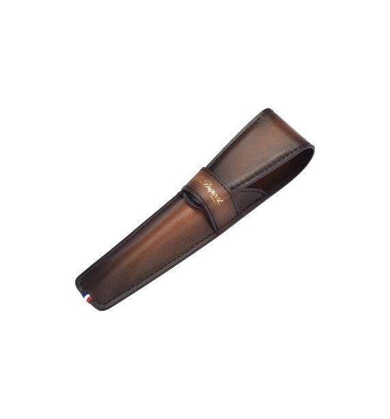 DUPONT ETUI 1 STYLO ATELIER MARRON 190204