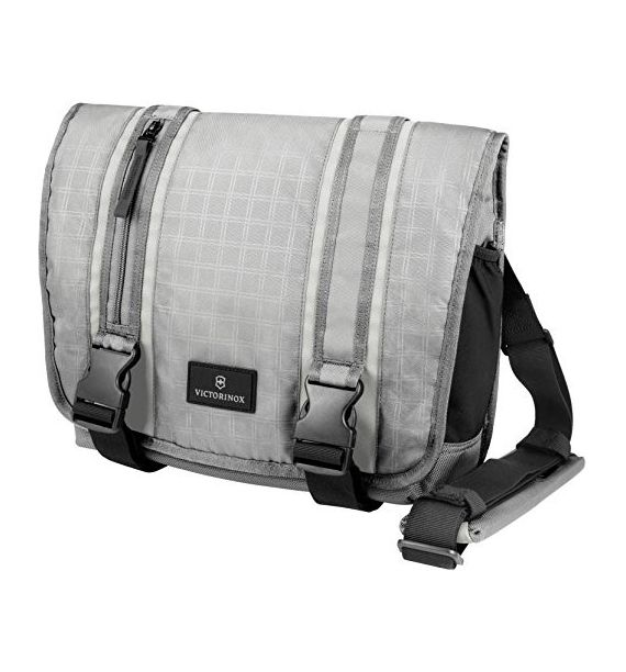 Victorinox Grey Laptop Messenger torba, siva