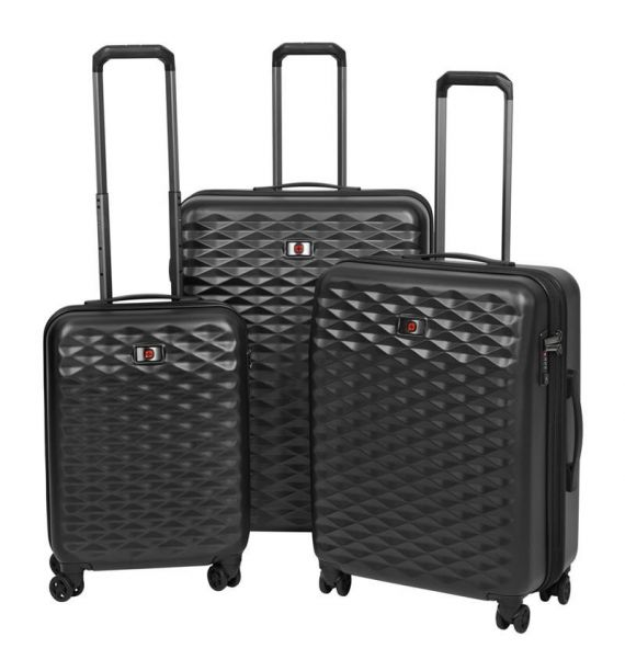 Wenger Lumen Hardside Luggage set 20,24,28, crni