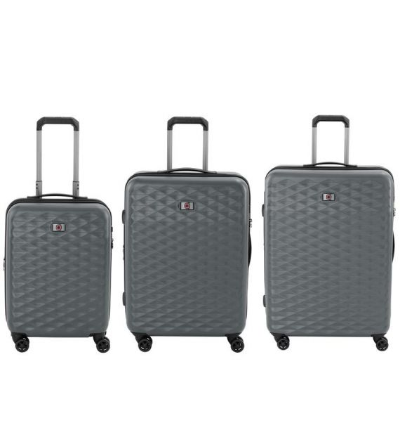 Wenger Lumen Hardside Luggage set 20,24,28, sivi