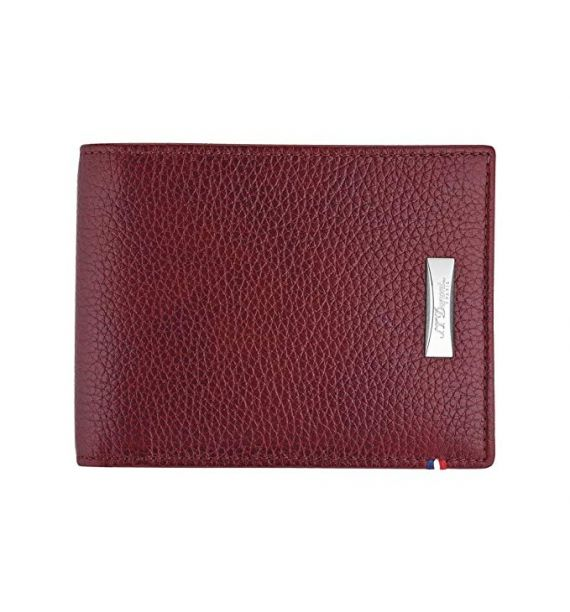 DUPONT BILLFOLD 6CC GRAIN CHERRY RED 180280