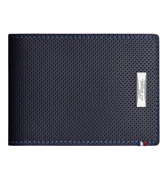DUPONT BILLFOLD 6CC PUNCHED BLUE 170601