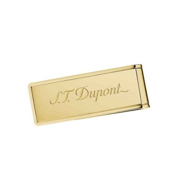 DUPONT MONEY CLIP PVD GOLD 003080
