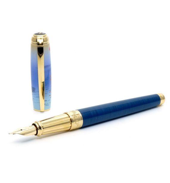 DUPONT LINE D PLUME L MONET BLUE/OR 410049L