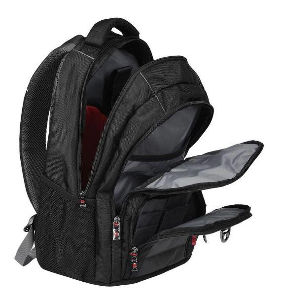 Wenger Pillar Backpack, crni/sivi