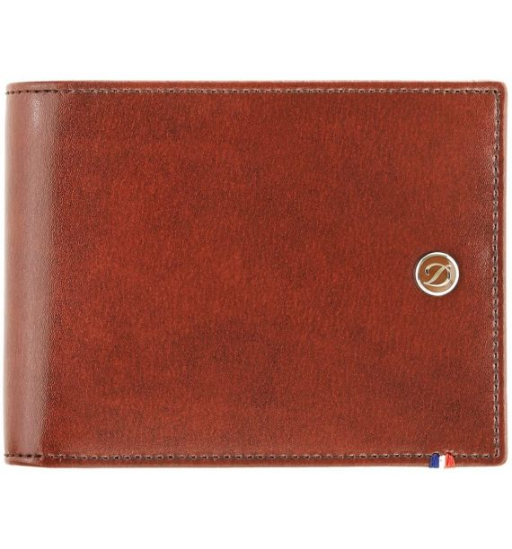 DUPONT WALLET 6 CREDIT CARDS LINE D BROWN 180190