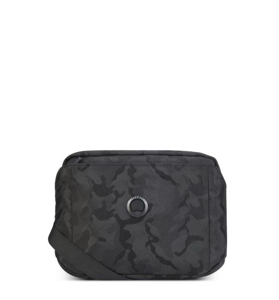"DELSEY PICPUS 2 CPT HORIZONTAL MINI BAG ""10,1""-BLACK CAMOUFLAGE 00335411110"
