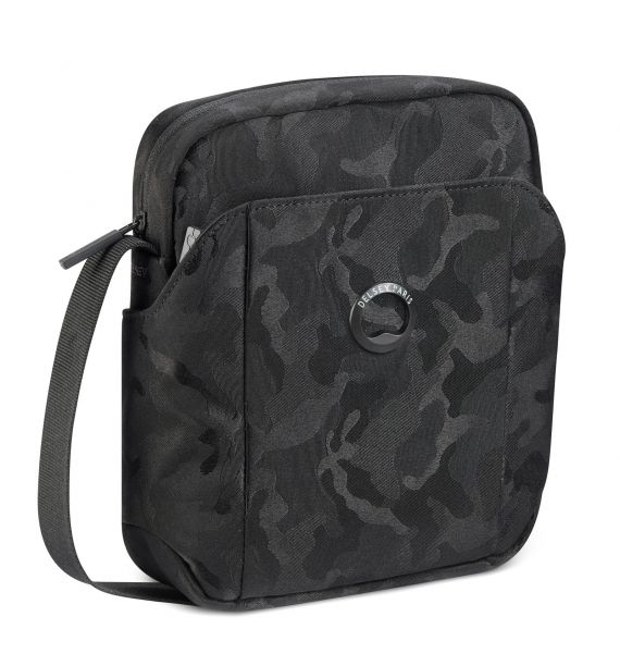 DELSEY PICPUS 1 CPT VERTICAL MINI BAG-BLACK CAMOUFLAGE 00335411210