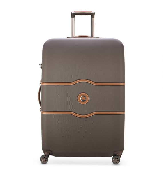 DELSEY CHATELET AIR 82CM 4 DOUBLE WHEELS TROLLEY CASE-CHOCOLATE 00167282106