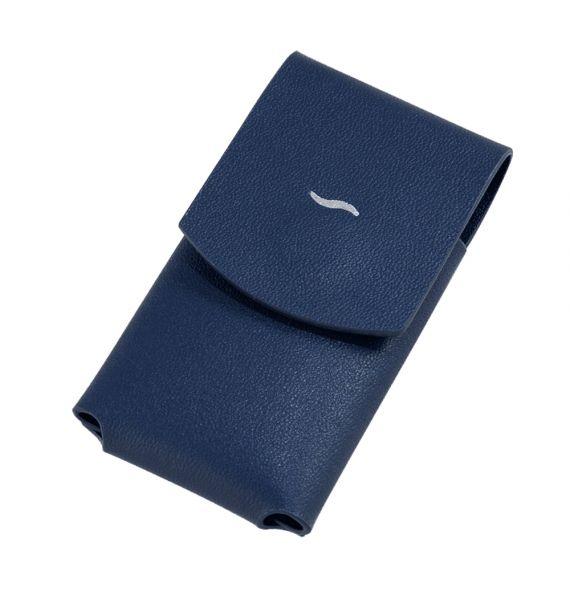 DUPONT SLIM 7 LIGHTER CASE BLUE 183063